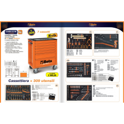 Drawer Beta cabinet with 7 drawers, with assortment of 309 universal tools