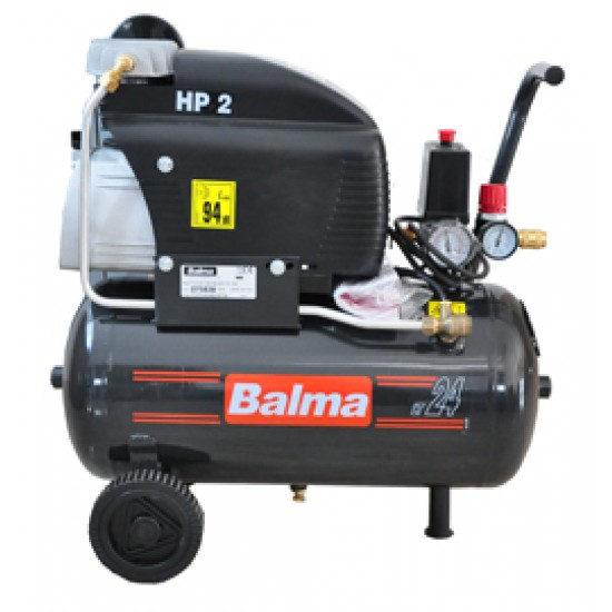 Balma compressor 24 lt. electric sirio