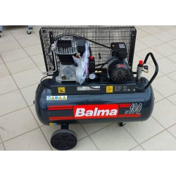 Compressor balma 100lt. electric stage with belt